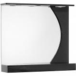 Зеркало АКВАТОРИЯ ЭКЛИПС 80 черный, белый
