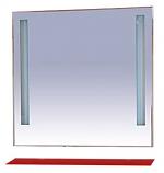 Зеркало MISTY ЛИКА 90 с красной полочкой