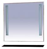 Зеркало MISTY ЛИКА 90 с черной полочкой