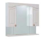 Шкаф-зеркало ONIKA АРНО 90.01 белое дерево